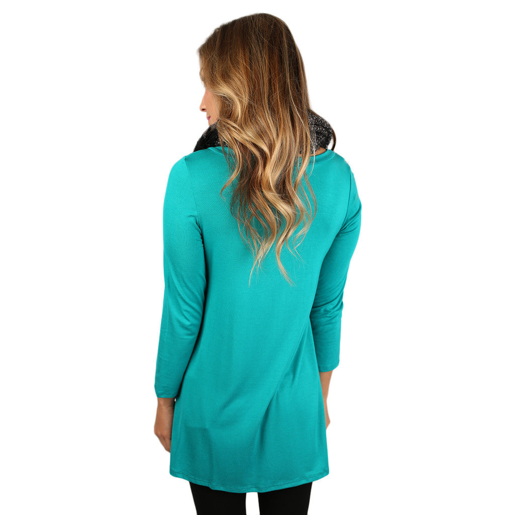 The Lucky Girl Tee Teal