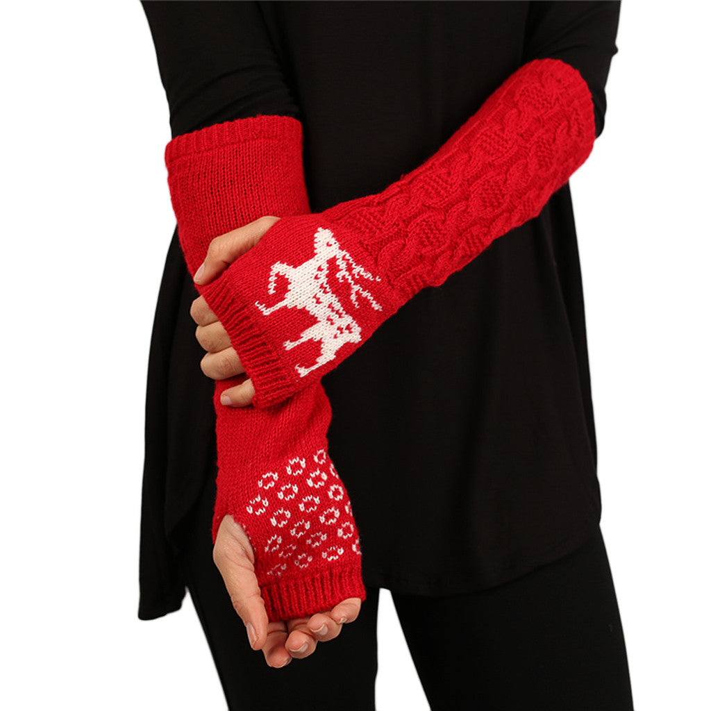 Warm Heart Gloves Red