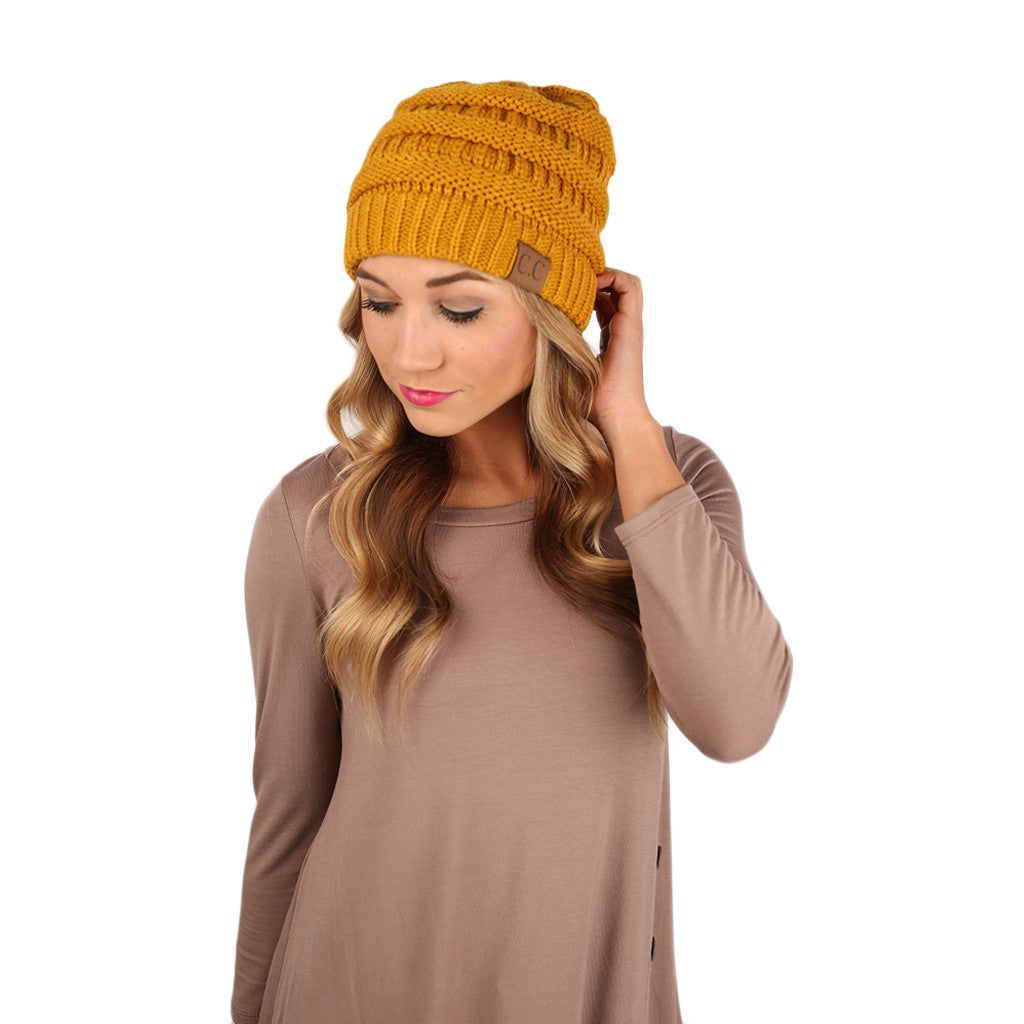 Beanie Beautiful in Mustard