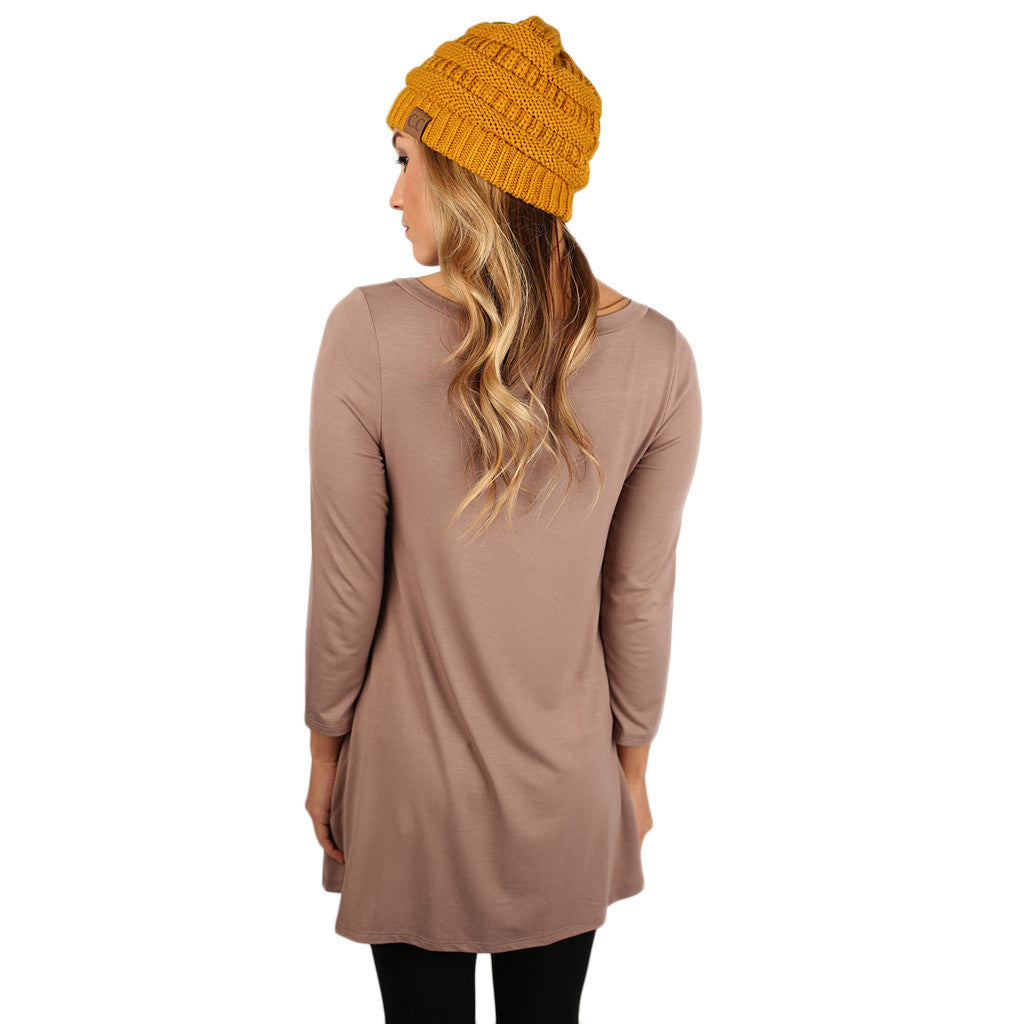 The Lucky Girl Tee Taupe