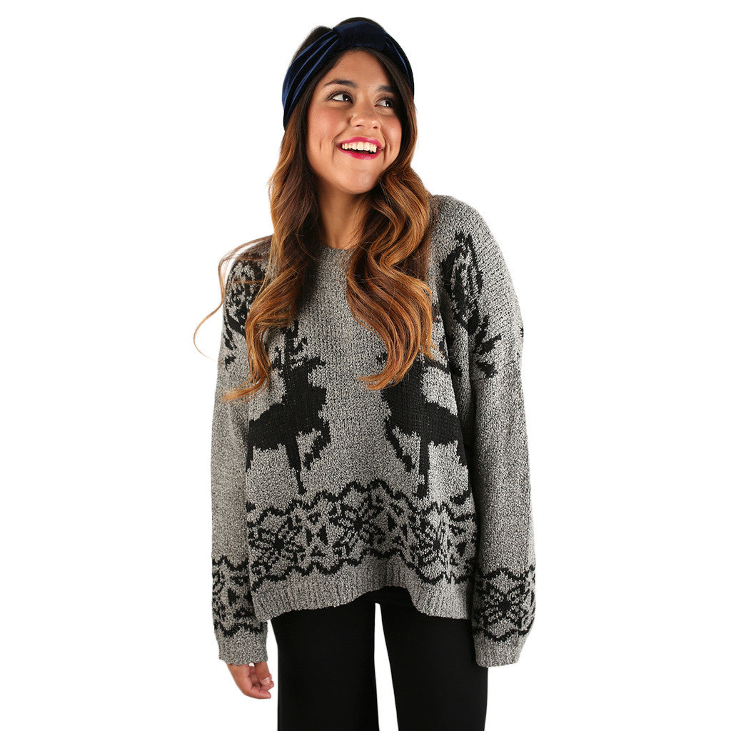 Over the River Sweater Grey