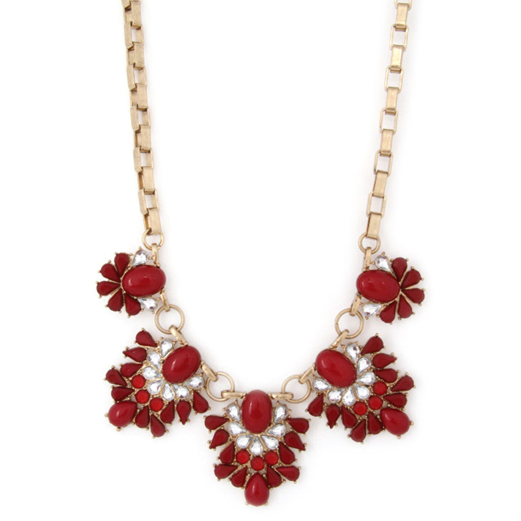 Feeling Inspired Necklace in Crimson