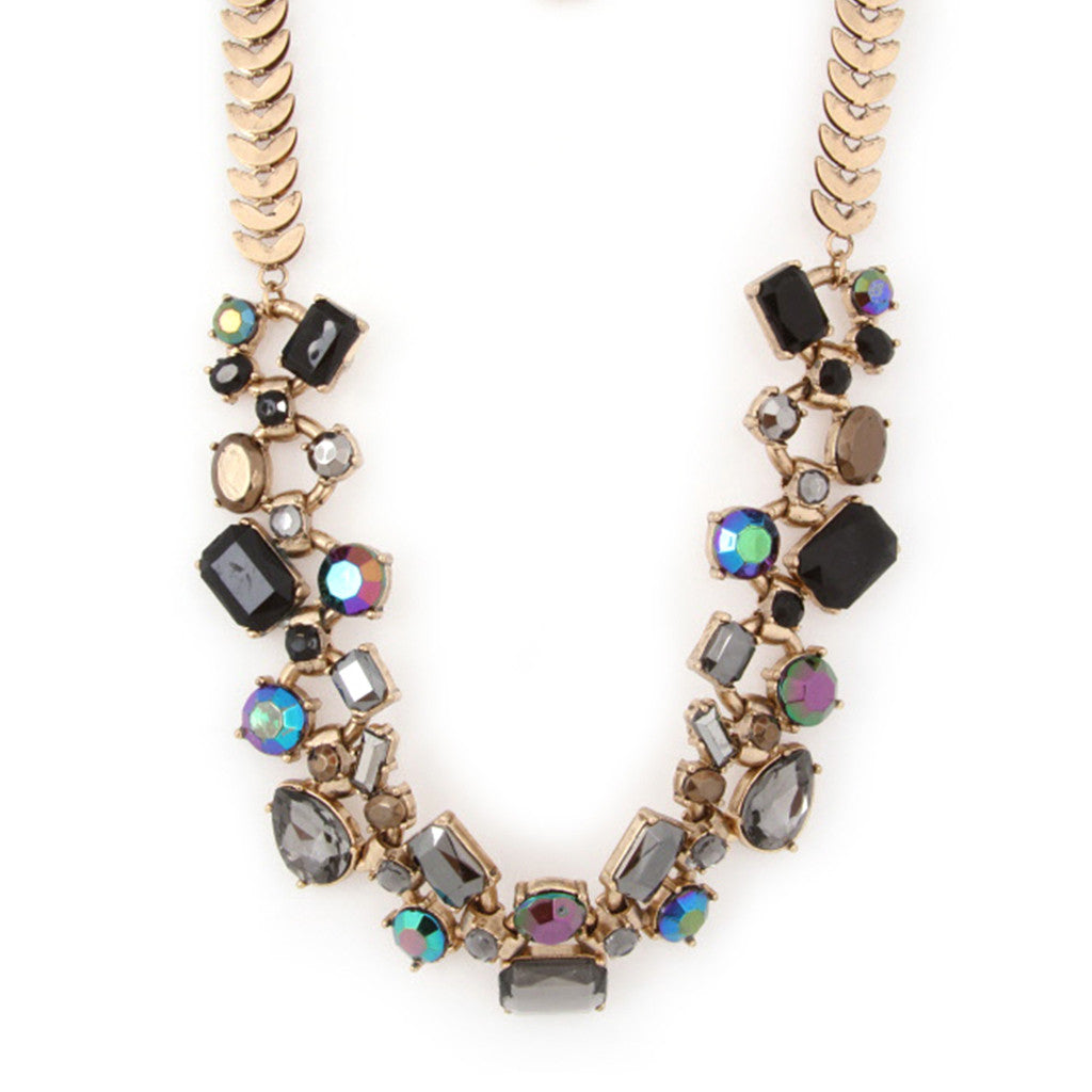 The Glam Life Necklace in Black