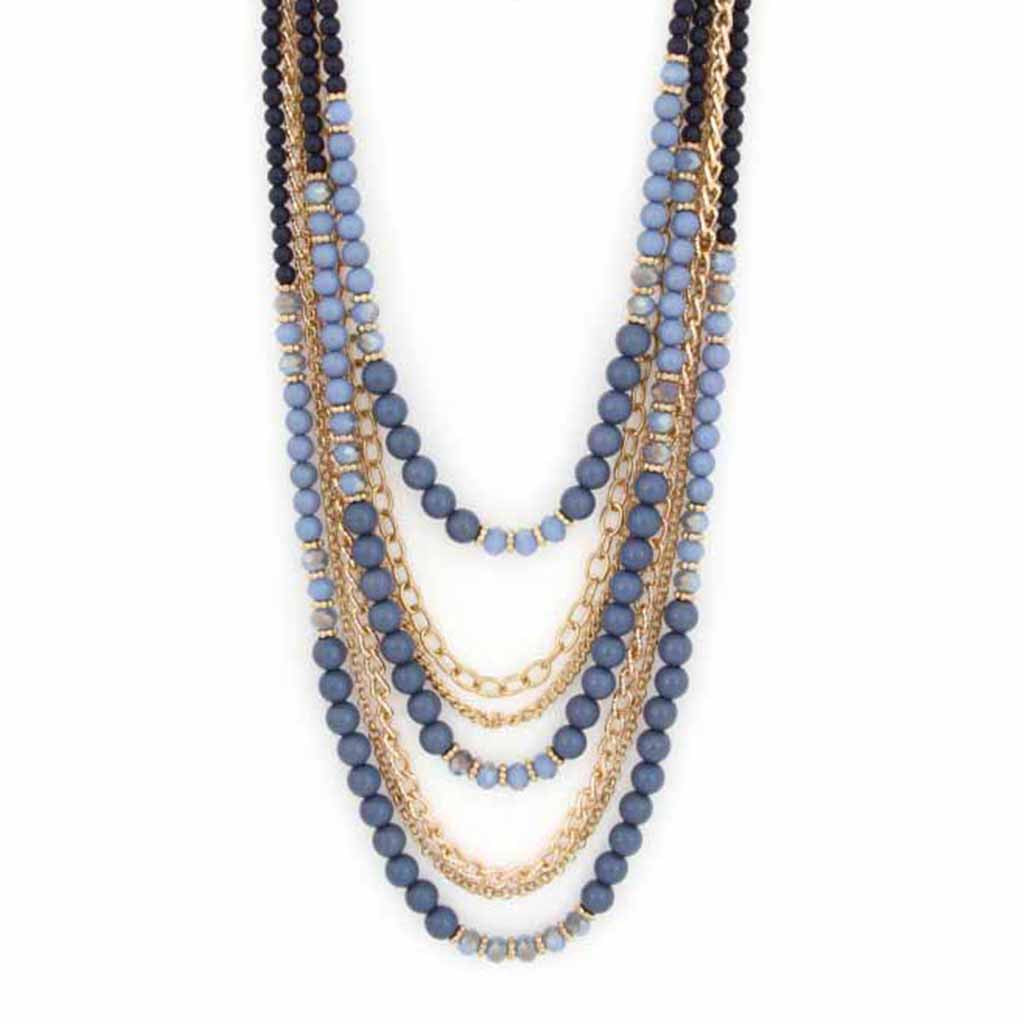 Lovely Layers Necklace in Blue