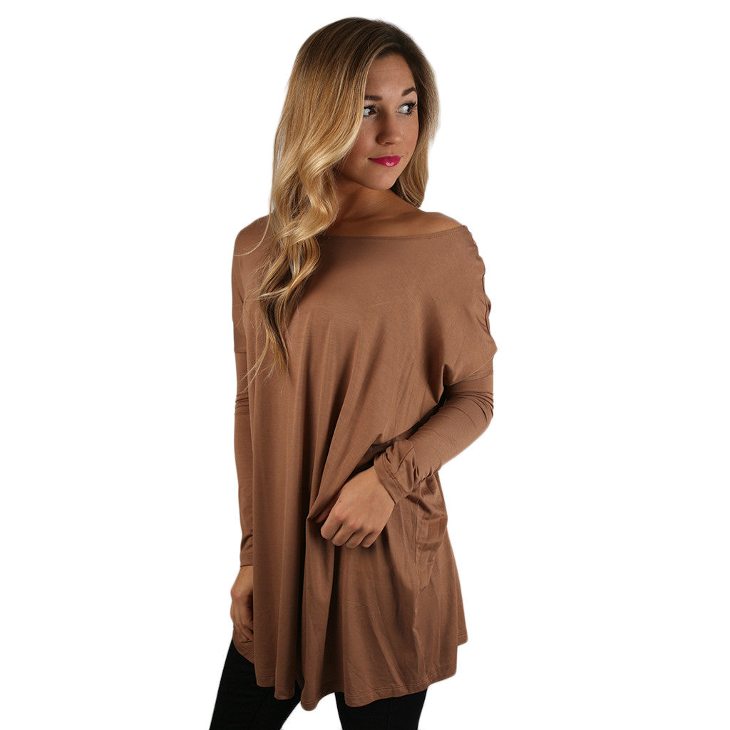 At First Crush Tunic in Camel