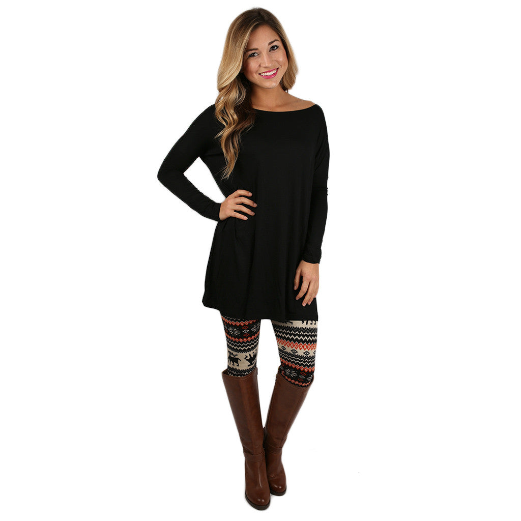 At First Crush Tunic in Black