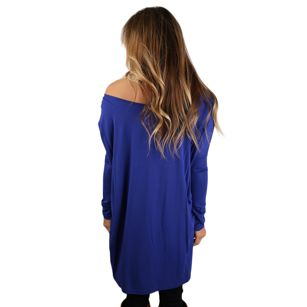At First Crush Tunic in Royal Blue
