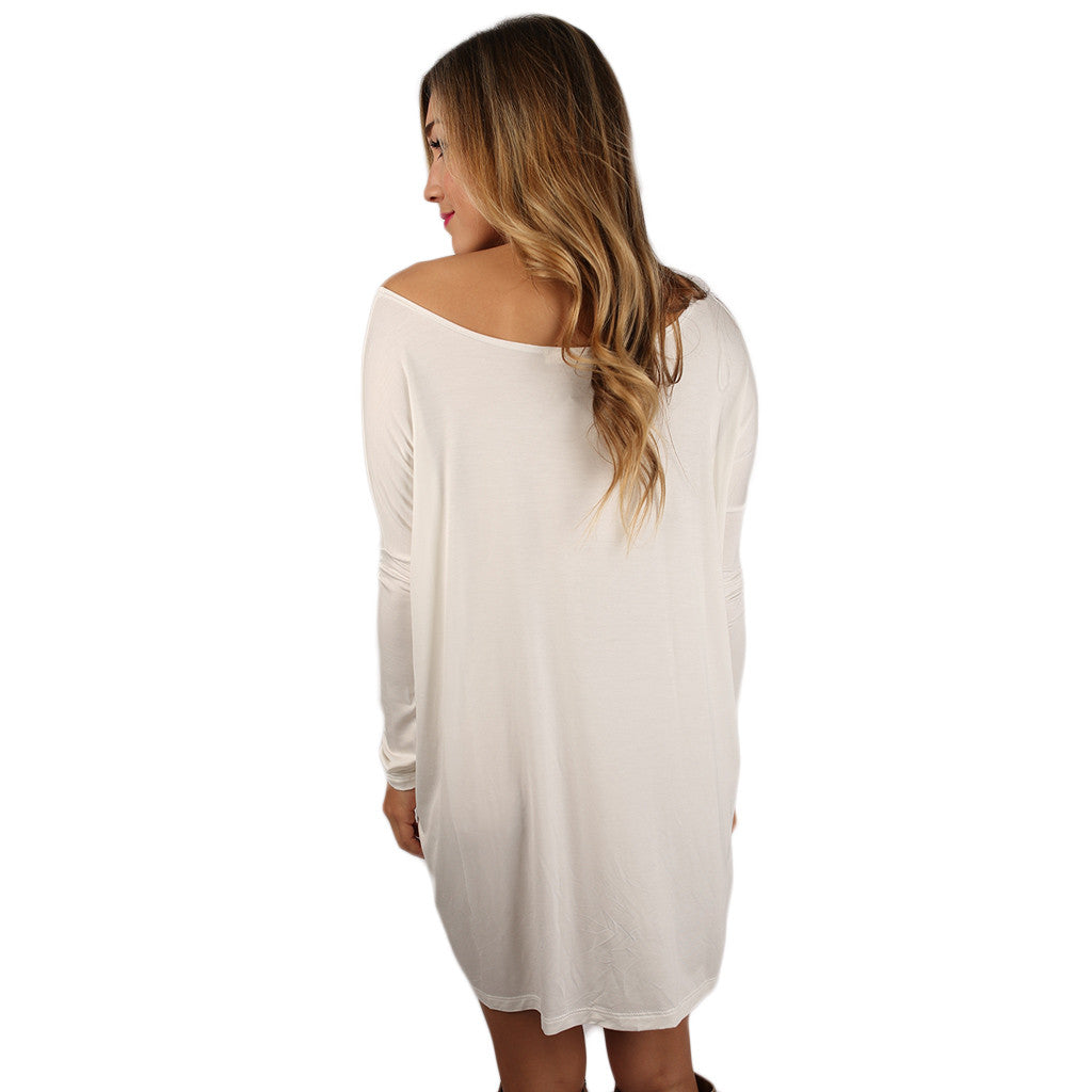At First Crush Tunic in Ivory