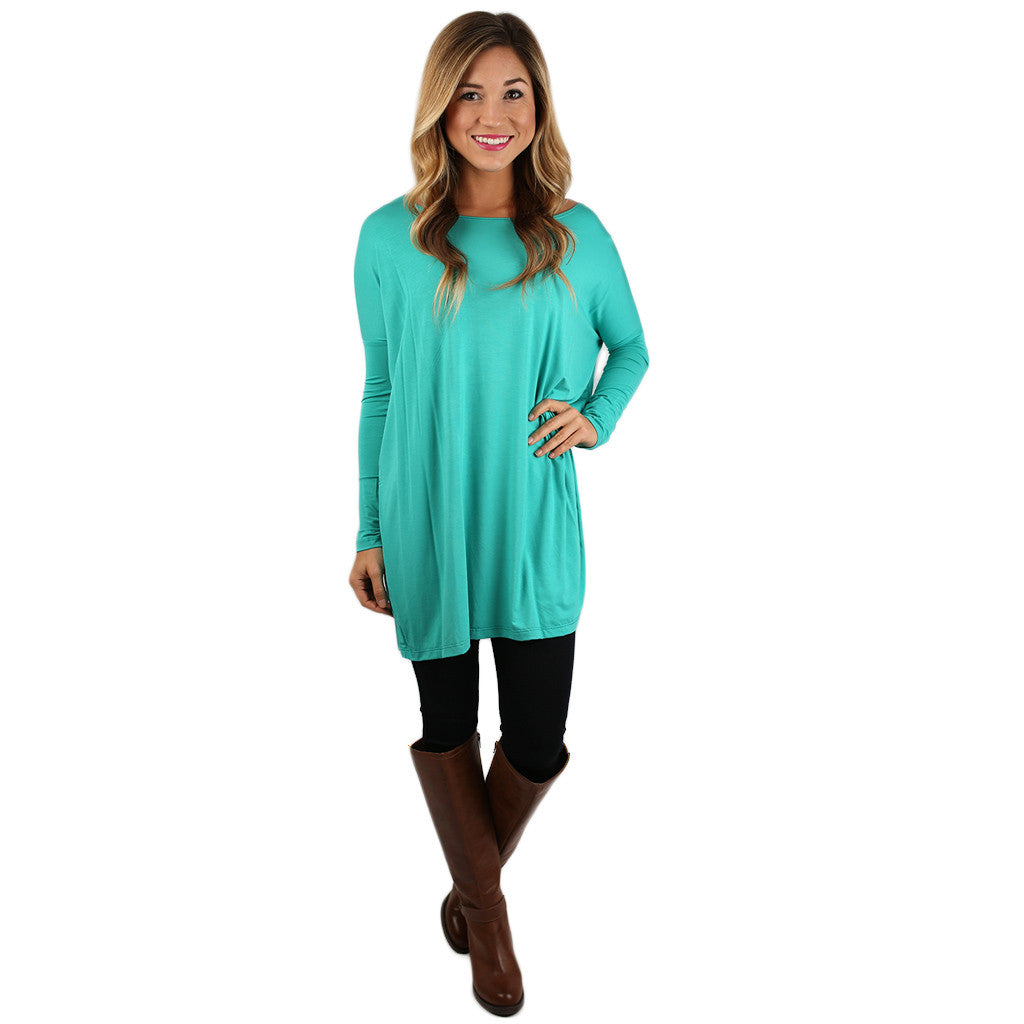 At First Crush Tunic in Teal