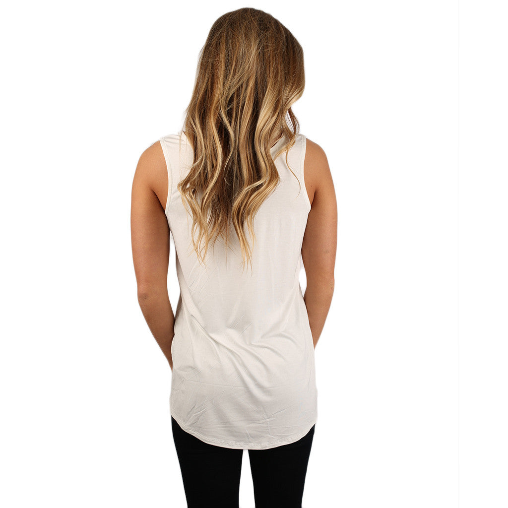 At First Crush Scoop Tank Ivory