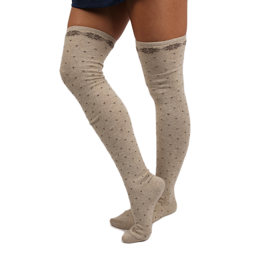 Dots & Glam Sweater Sock in Ivory