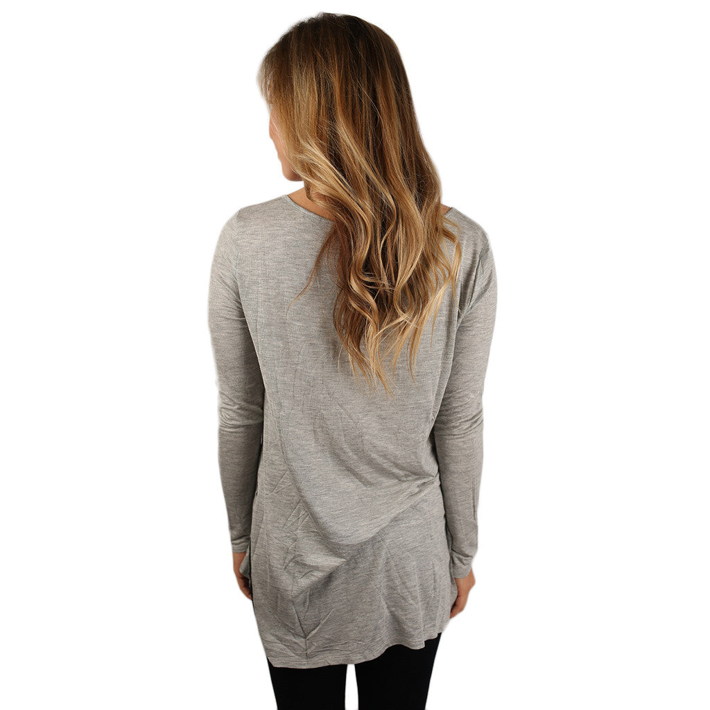 The Perfect Everyday Tunic Heather Grey