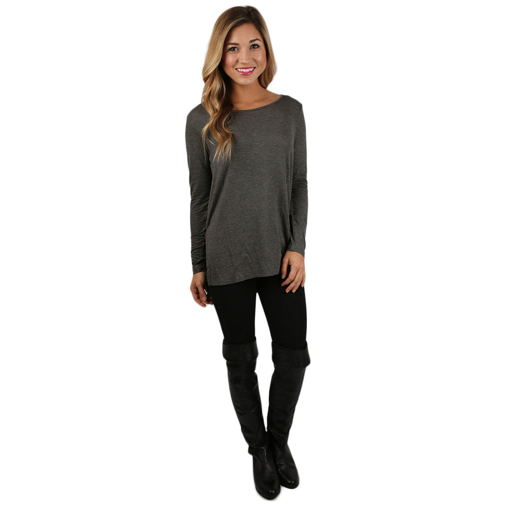 The Perfect Everyday Tunic Charcoal
