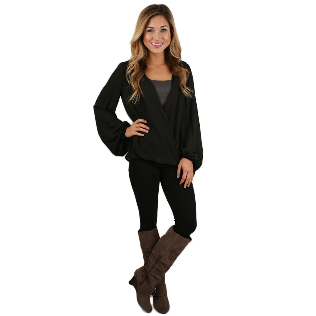 Glamorous Gal Top in Black