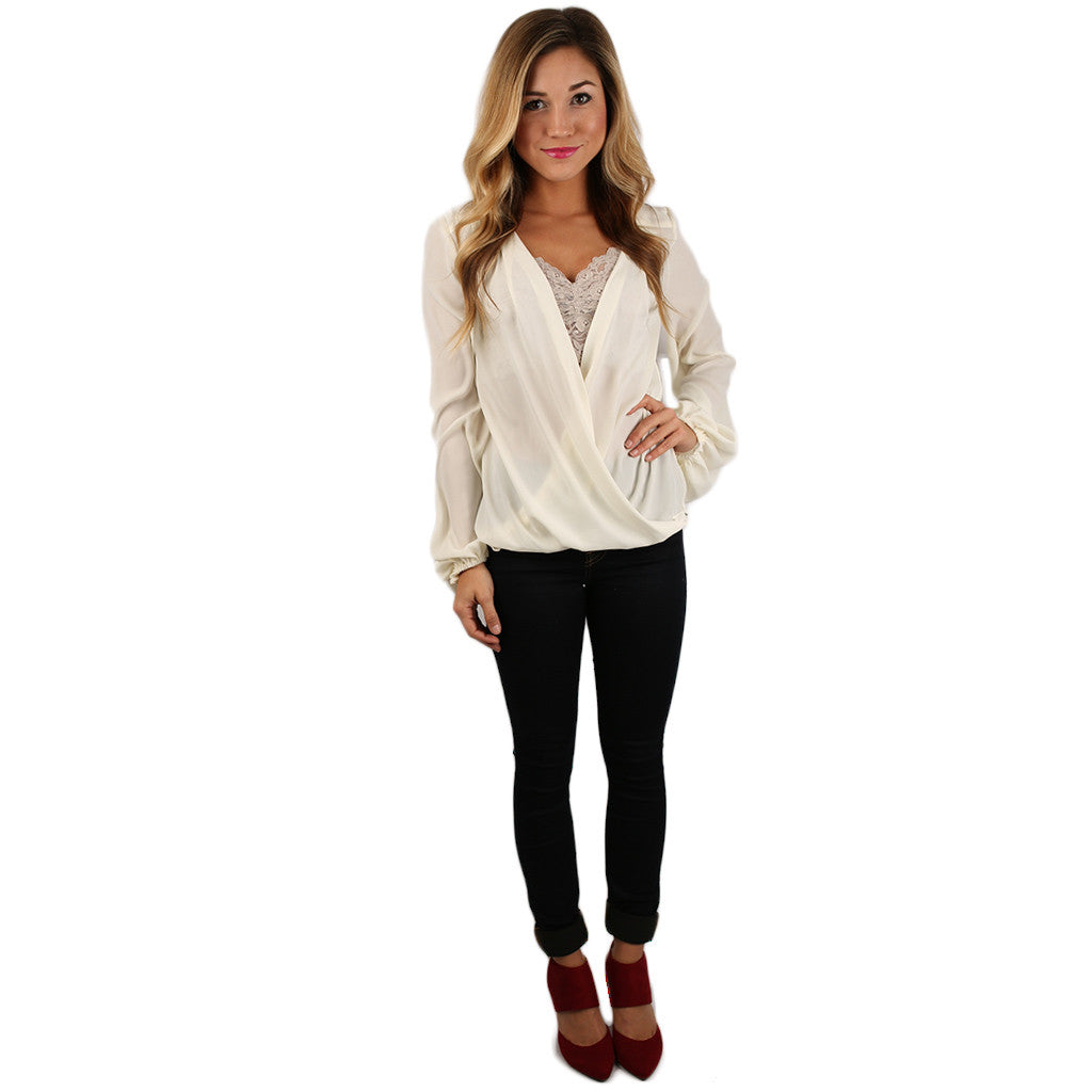 Glamorous Gal Top in Ivory