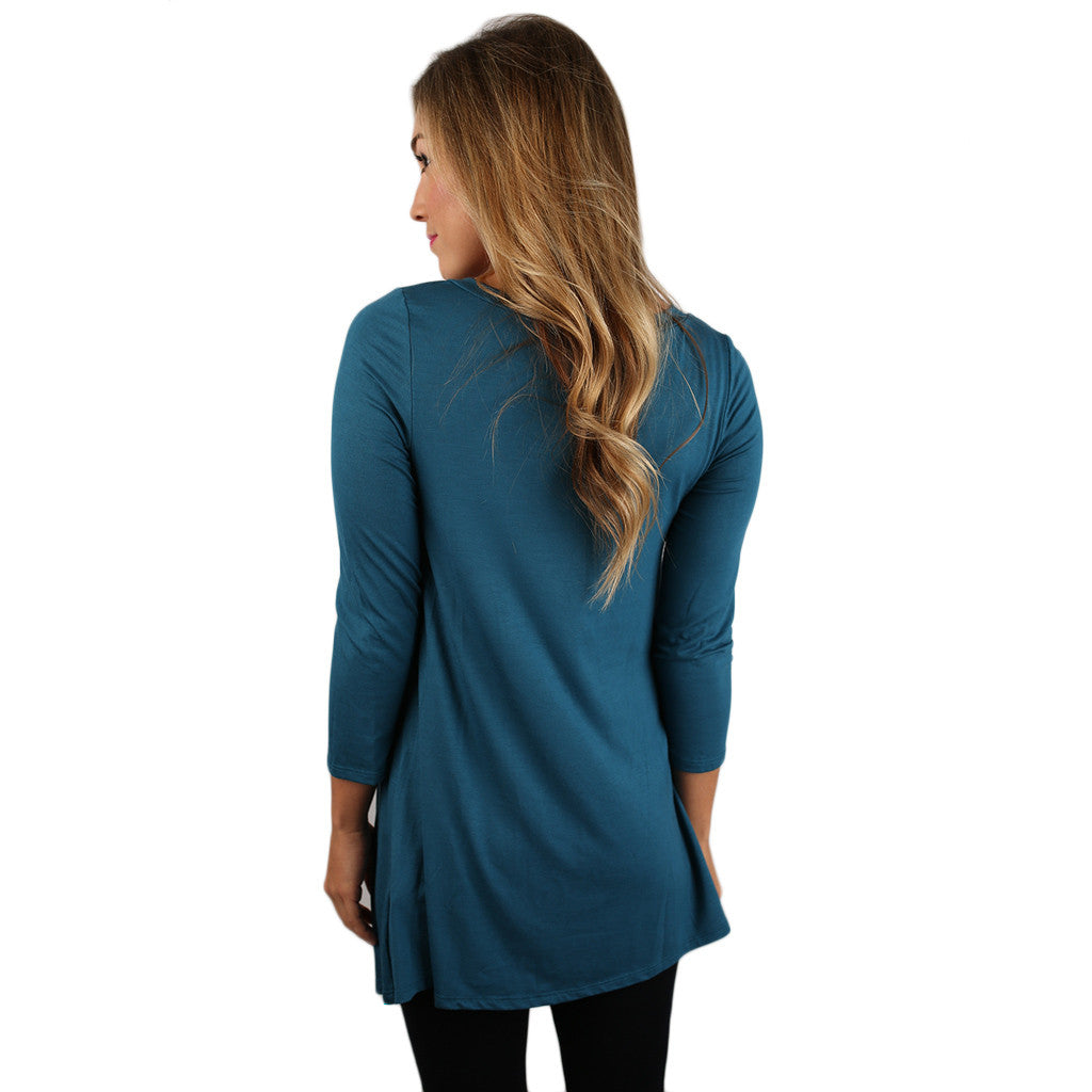 The Lucky Girl Tee Dark Teal