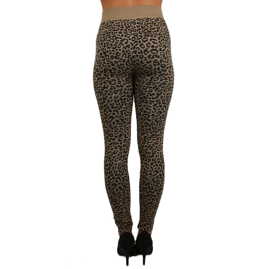 Your Best Friend Fleece Lined Legging in Leopard
