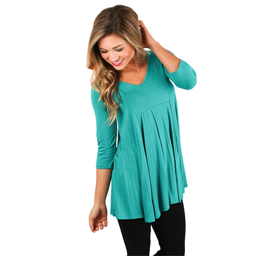 Basically Beautiful Tee in Teal