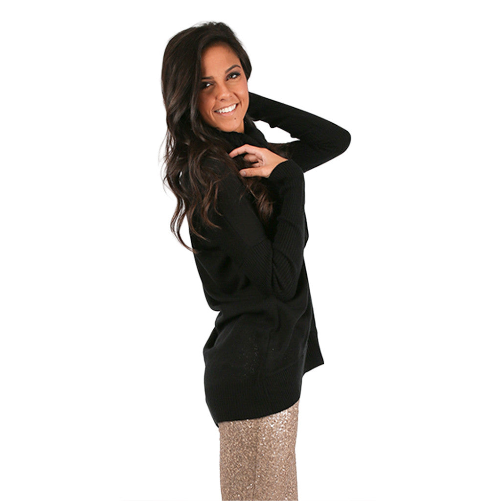 Home is Where I'm with You Tunic Sweater in Black