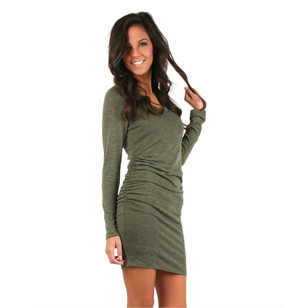 Red Carpet Party Dress Green