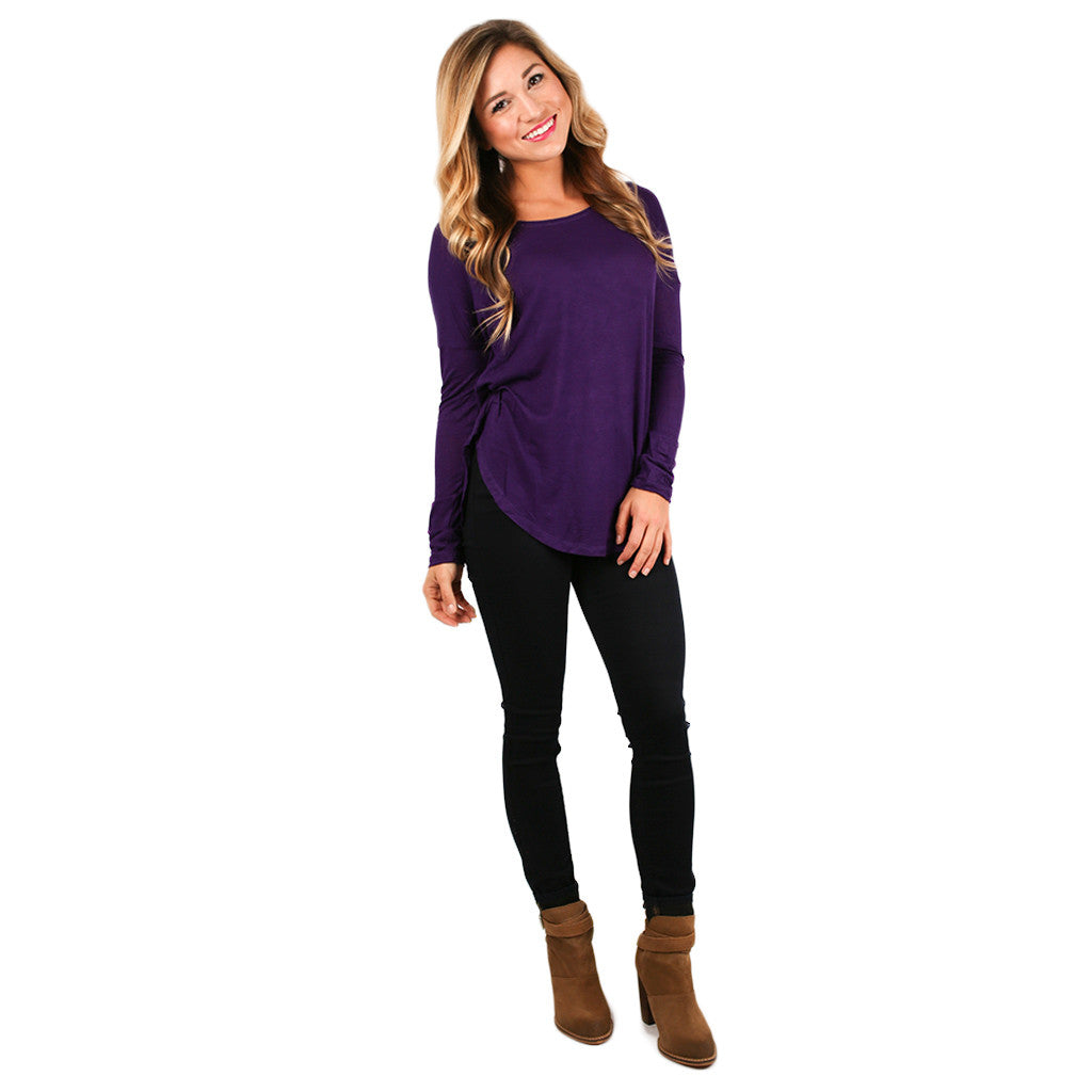 Hampton's Weekend Top in Purple