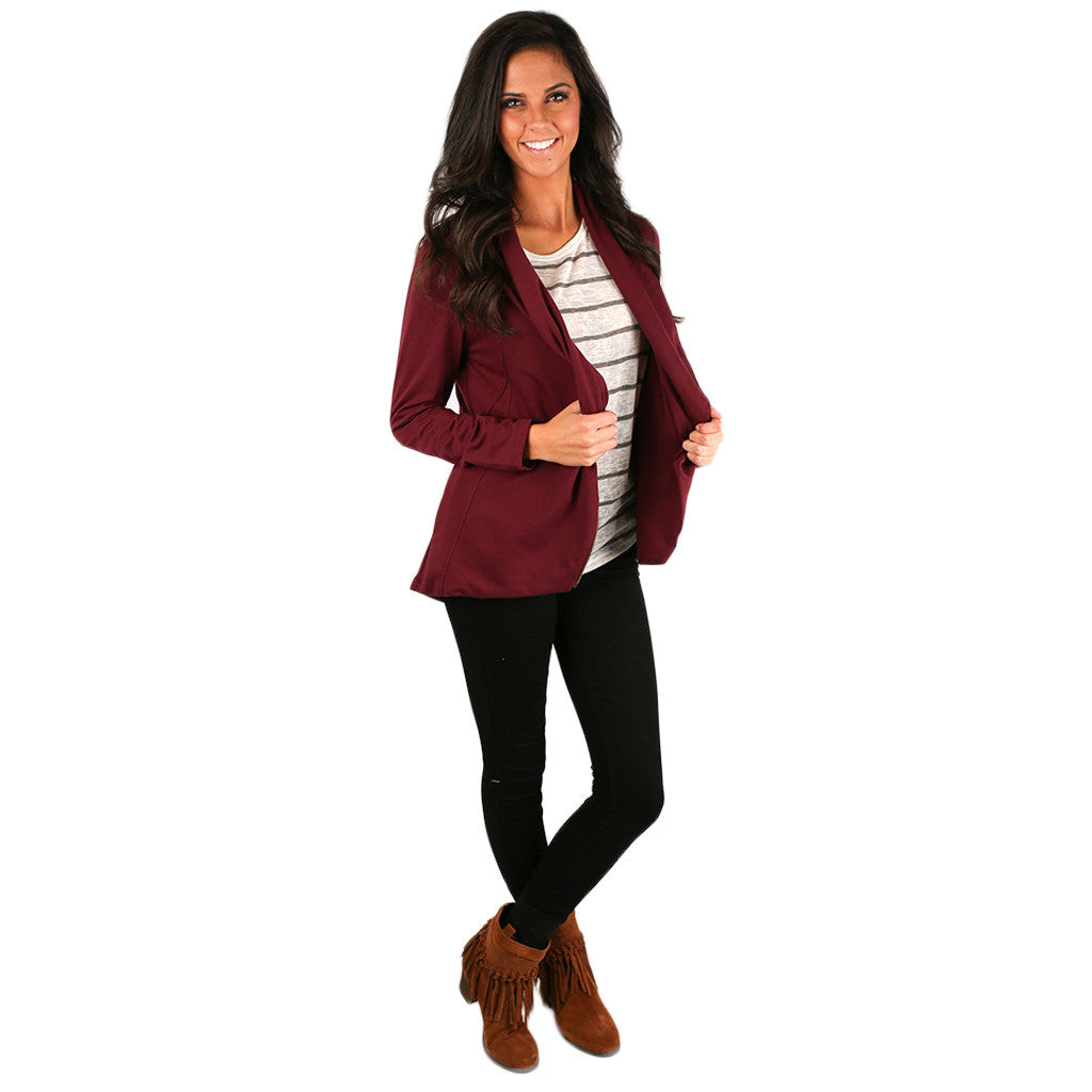 What I've Been Looking For Jacket in Maroon
