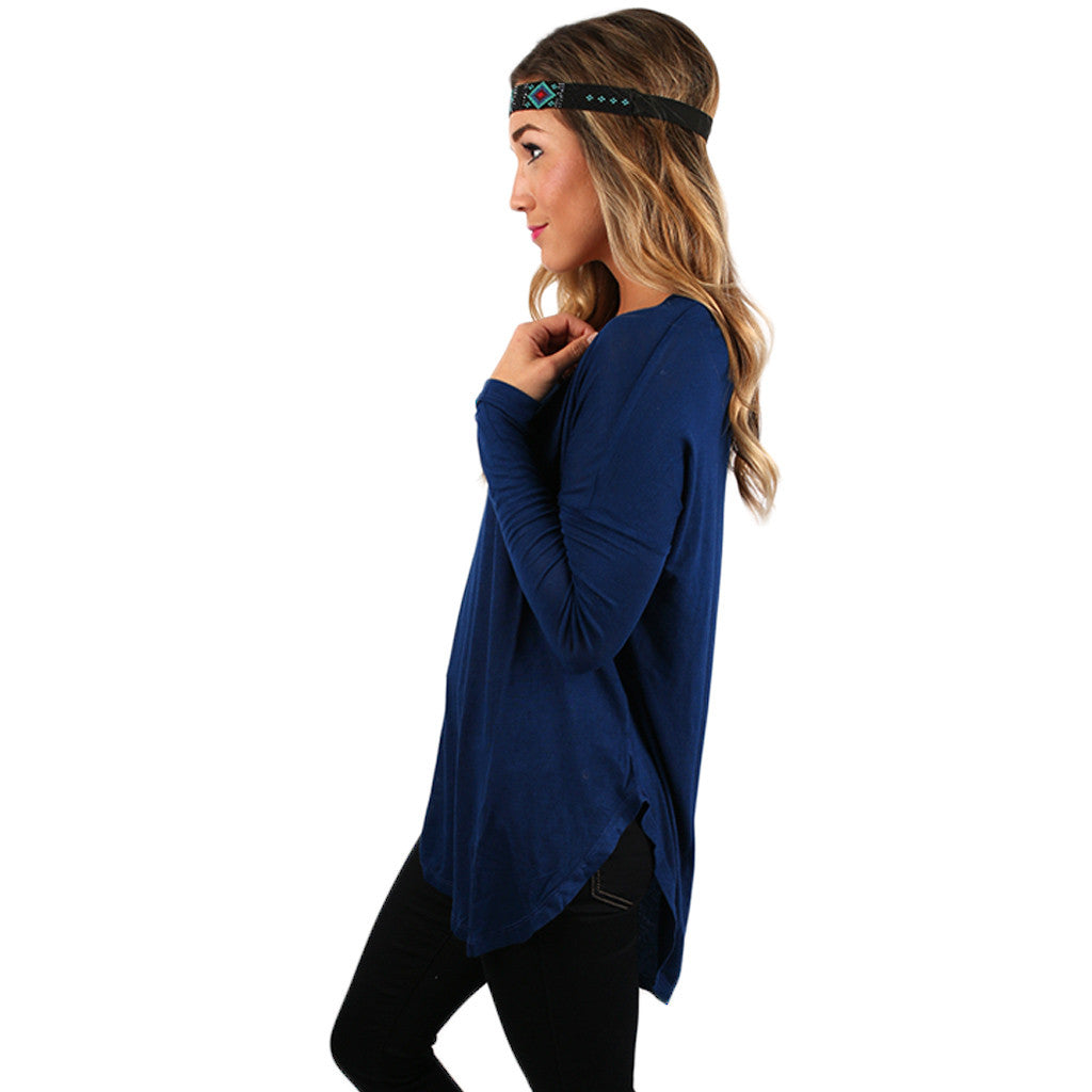 Hampton's Weekend Top in Royal Blue