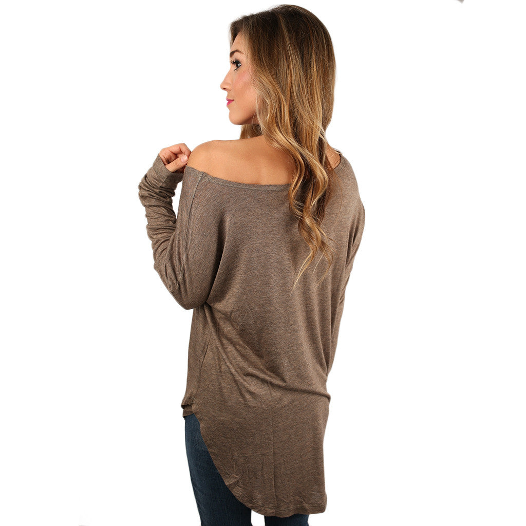 Hampton's Weekend Top in Taupe