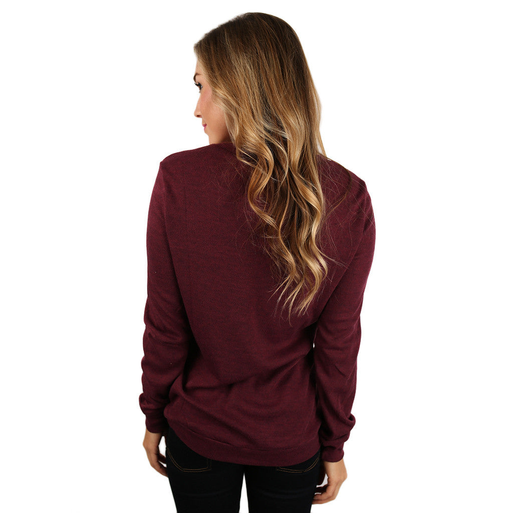 Sparkle In The City Top in Burgundy