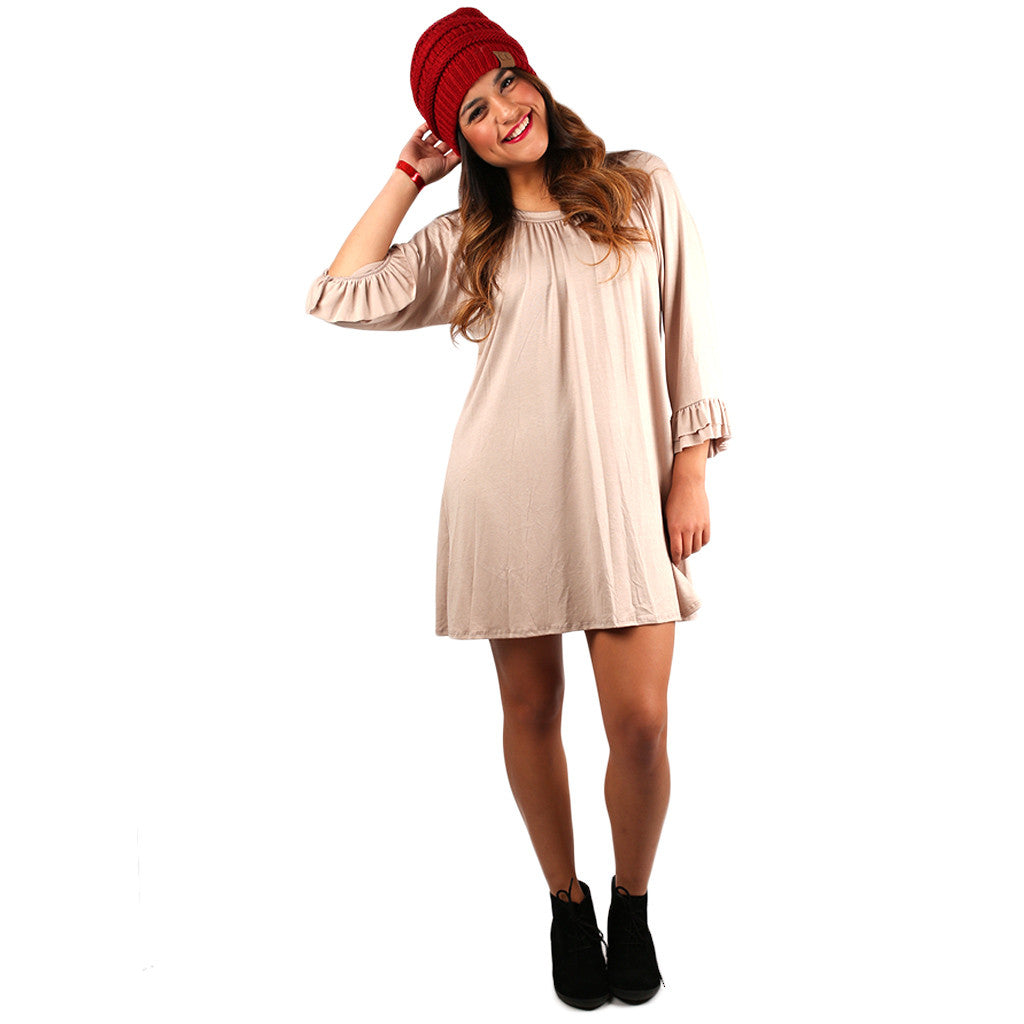 Cheer On Tunic in Taupe