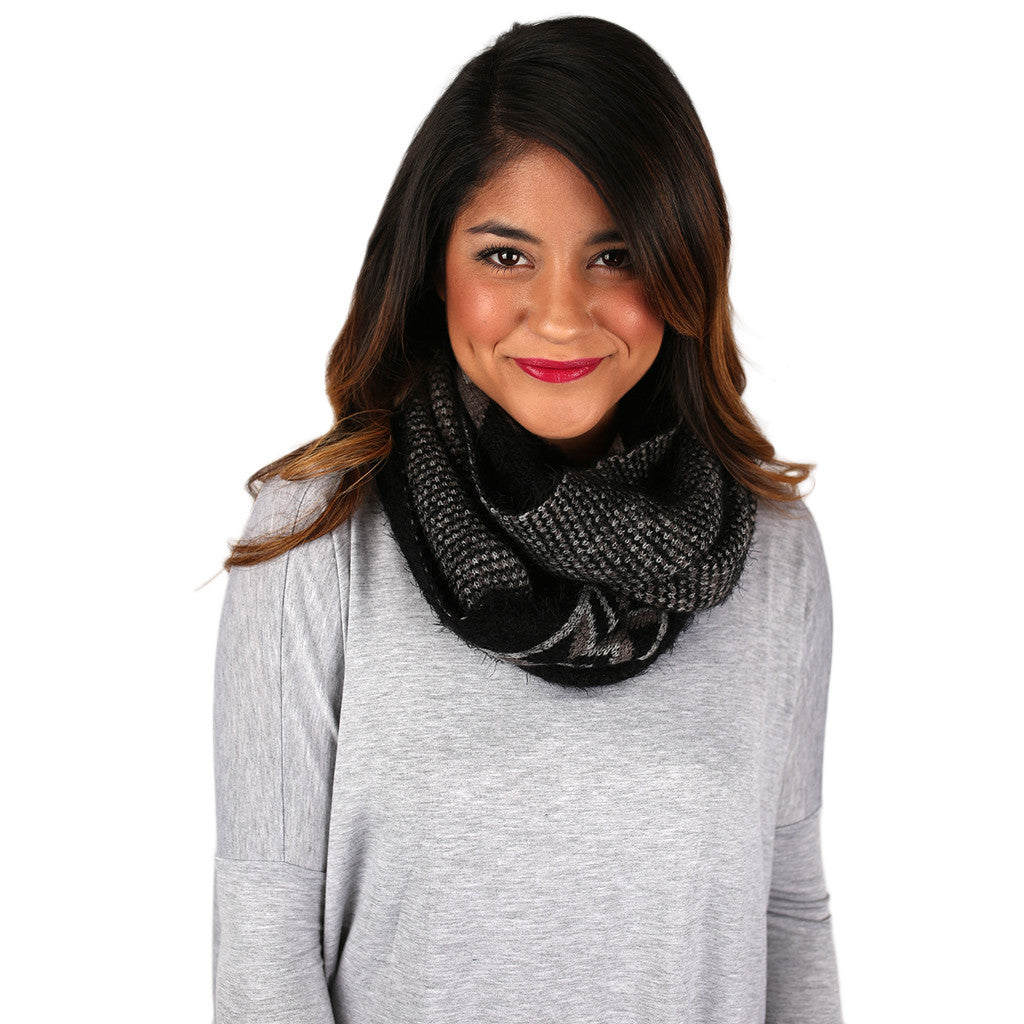 Cozy In Napa Infinity Scarf In Black