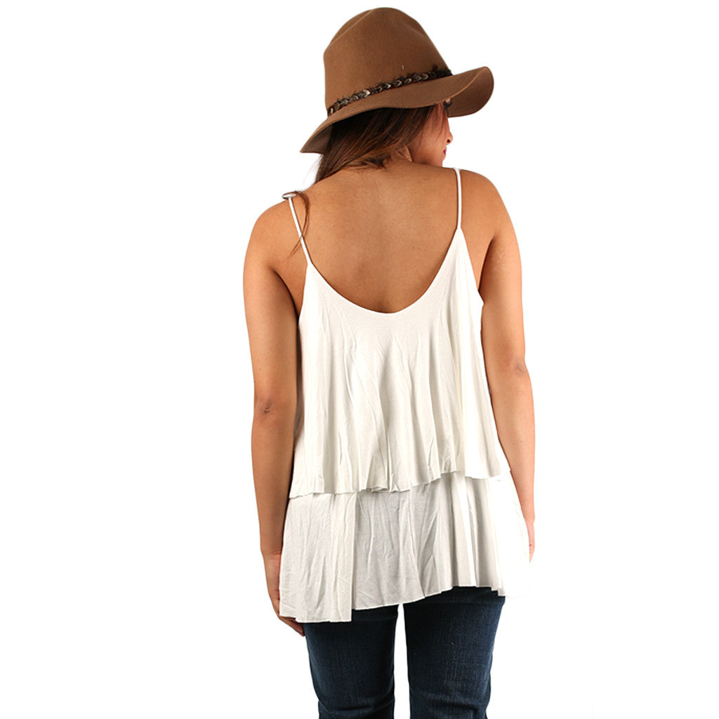 Layering Love Tank in White