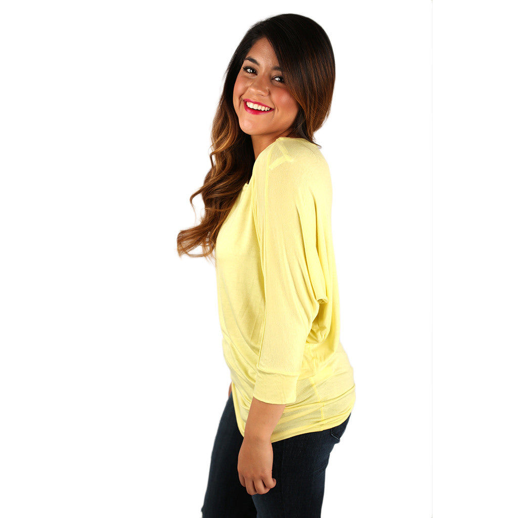 Living In Color Tee in Yellow