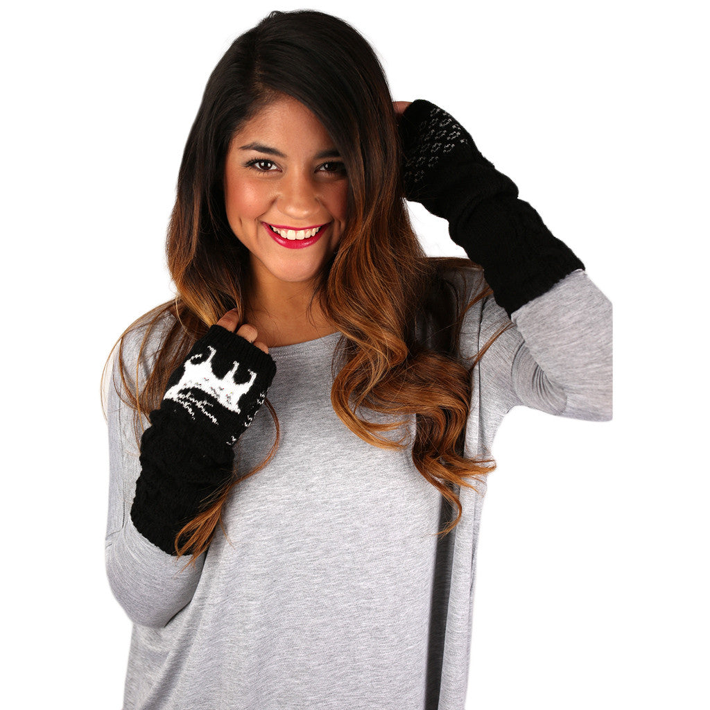 Warm Heart Gloves Black