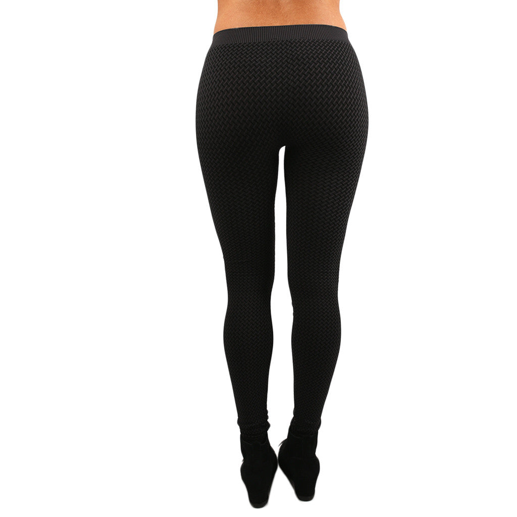 3-Tone Legging in Charcoal