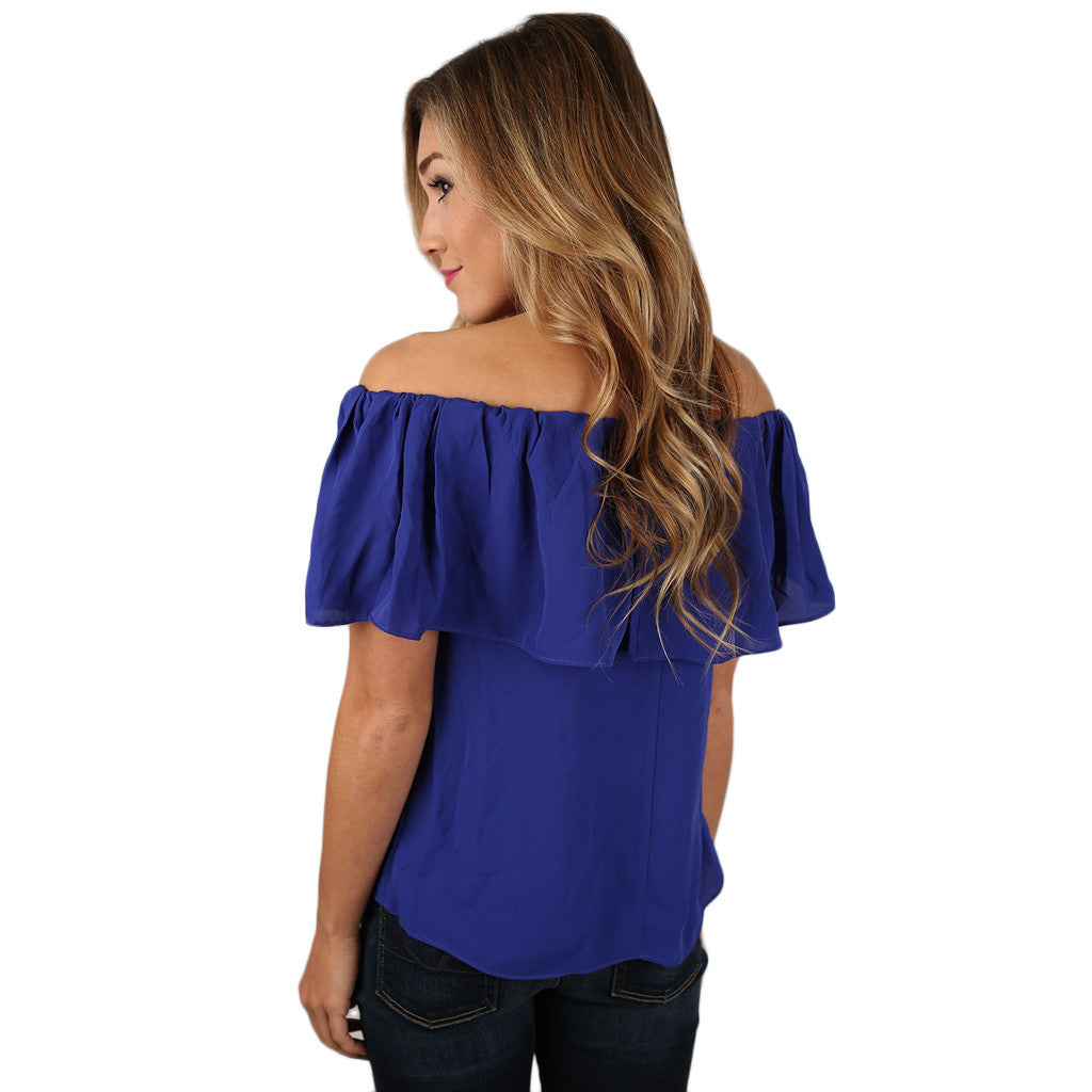 Island Hopping Top in Royal Blue