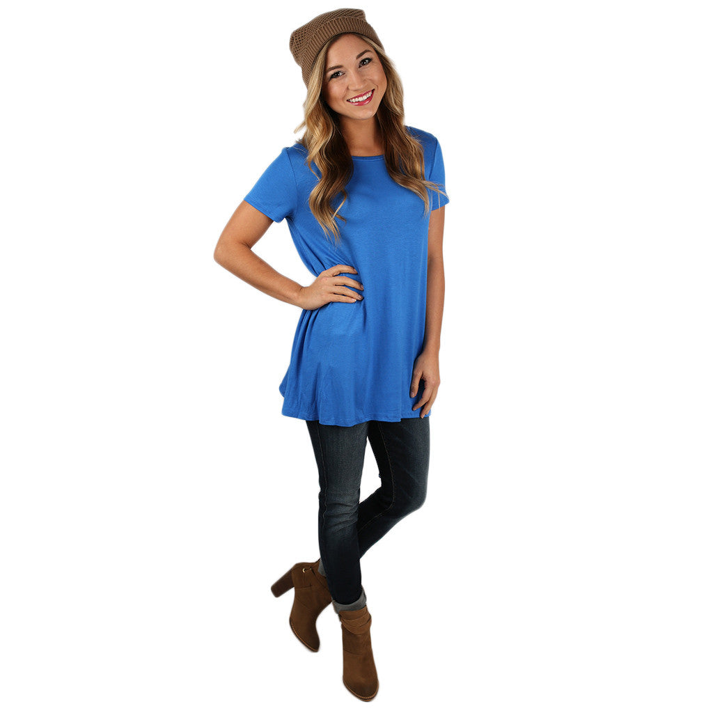 Daydreamer Tee in Cobalt Blue