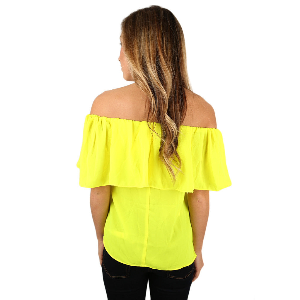 Island Hopping Top in Yellow