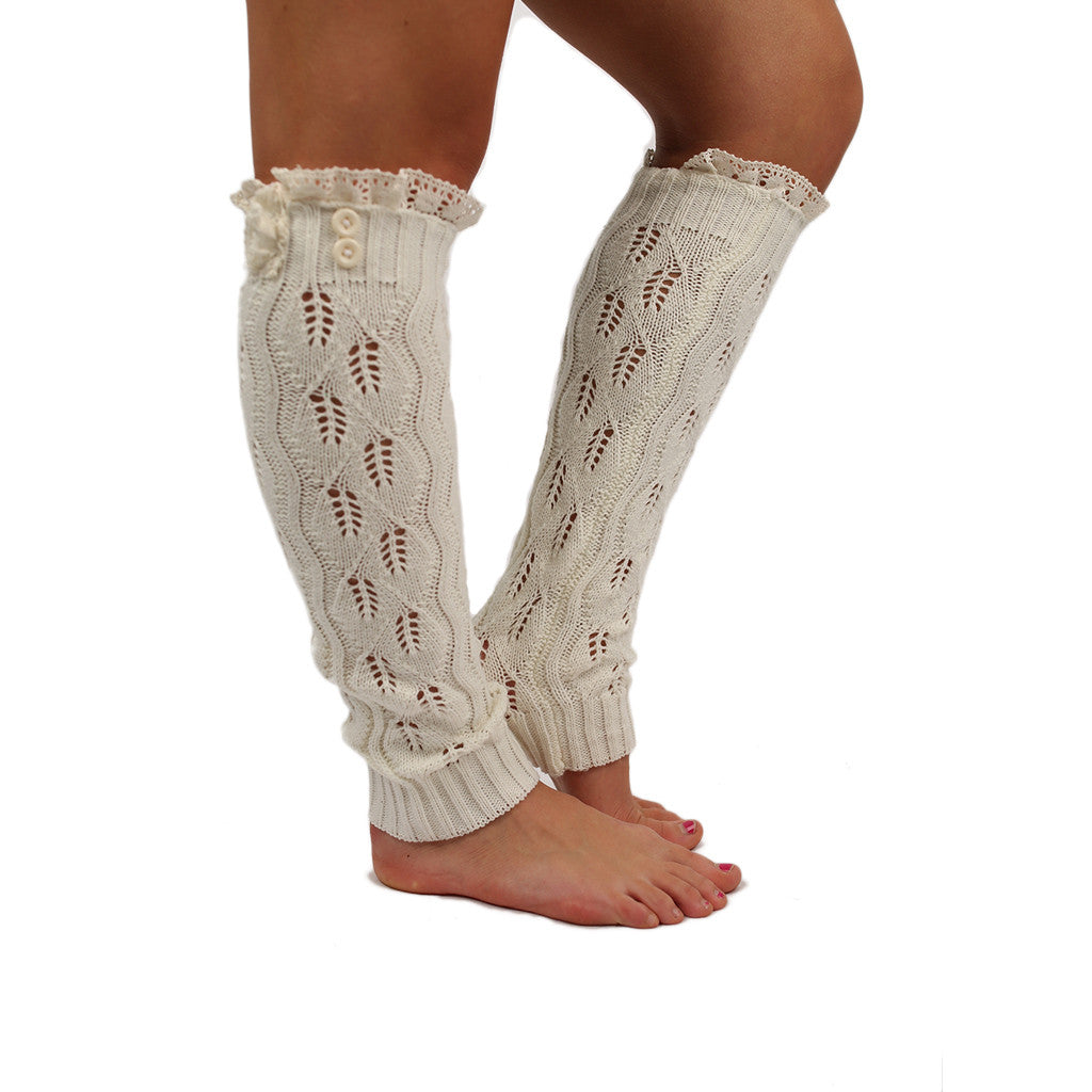Lovely Layers Leg Warmer in Ivory