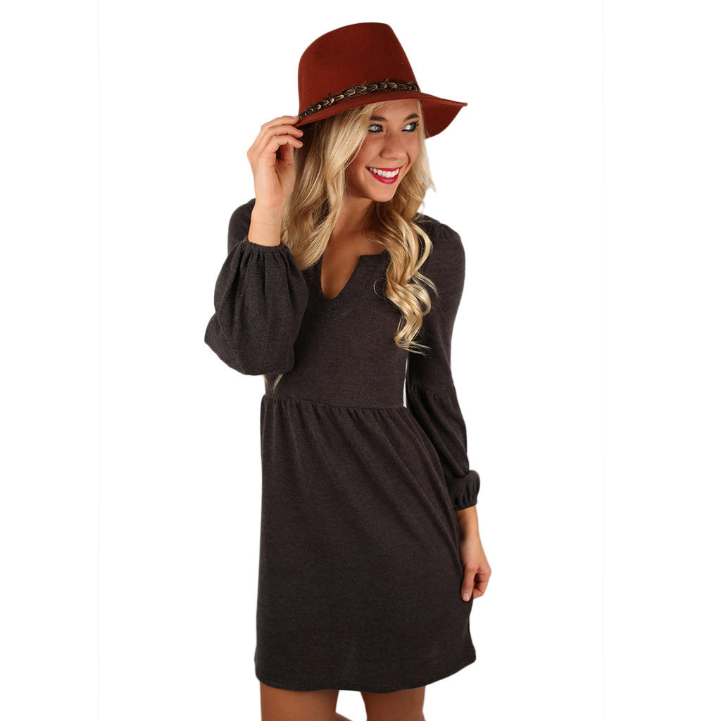 Dance It Off Sweater Dress in Mocha