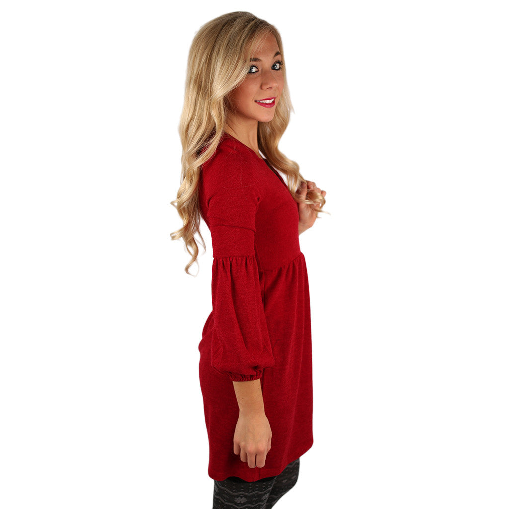Dance It Off Sweater Dress in Red