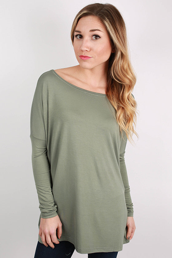 PIKO Long Sleeve Tee in Olive