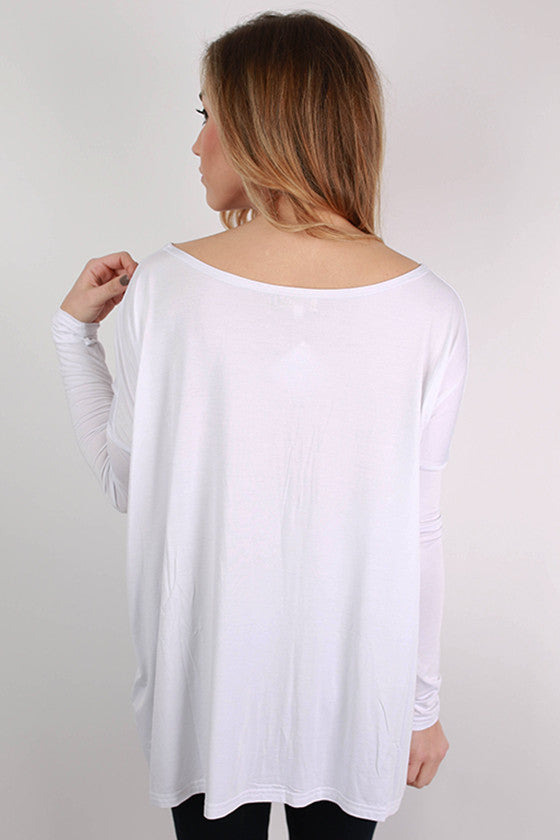 PIKO Long Sleeve Tee in Bleach White