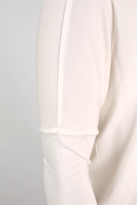 PIKO Long Sleeve Tee in Off White