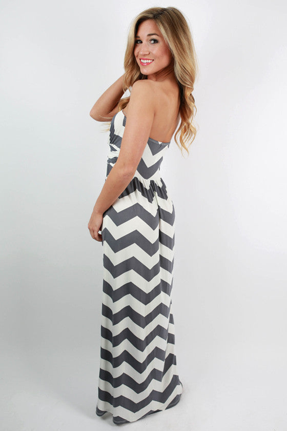 Sunkissed Stripe Maxi in Grey