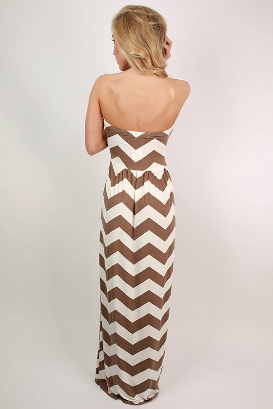 Sunkissed Stripe Maxi in Mocha