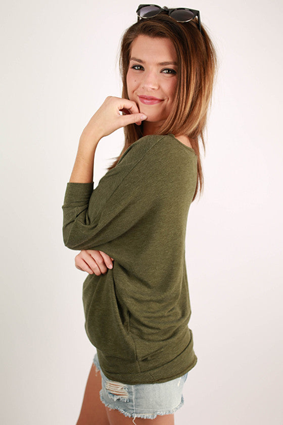 Afternoon Outing Tunic in Olive