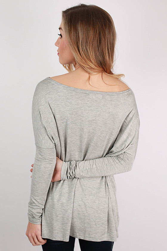 PIKO Long Sleeve Tee in Heather Grey