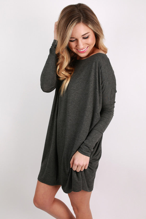 PIKO Tunic in Heather Charcoal