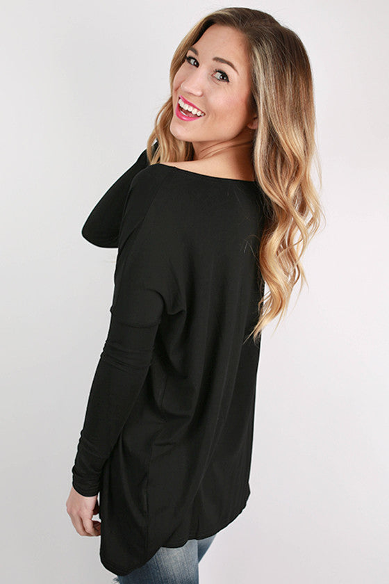 PIKO Long Sleeve Tee in Black